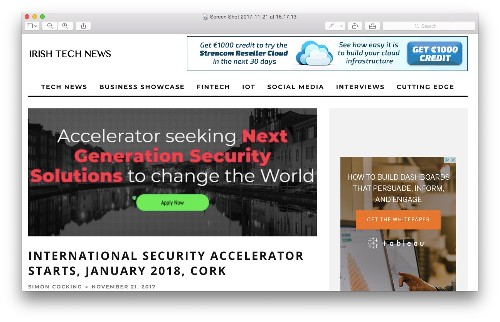Irish Tech News Features the International Security Accelerator
